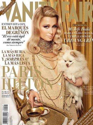 Paris Hilton en couverture de Vanity Fair