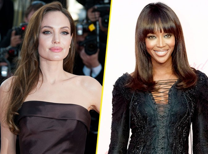 Cannes 2011 : Angelina Jolie et Naomi Campbell : Deux beautés fanées après une soirée bien arrosée !