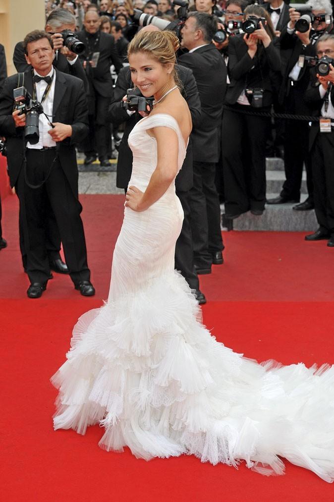Festival de Cannes 2010 : la robe blanche de mariée d'Elsa Pataky