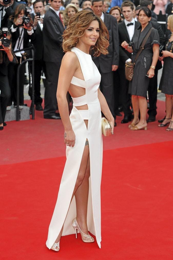 Festival de Cannes 2010 : la robe blanche fendue de Cheryl Cole