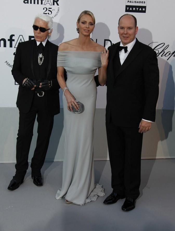 Charlène et Albert avec Karl Lagerfeld !