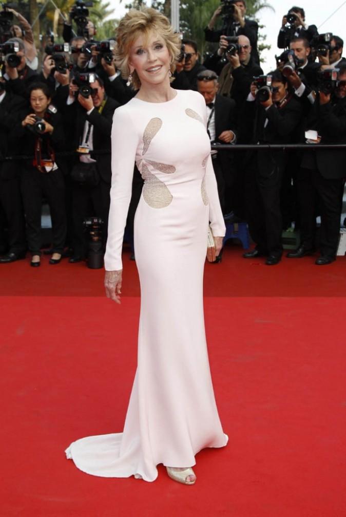 Jane Fonda arrive sur le tapis rouge du Festival de Cannes !