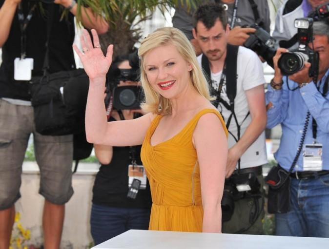 Kirsten Dunst lors du photocall du film Melancholia à Cannes, le 18 mai 2011.