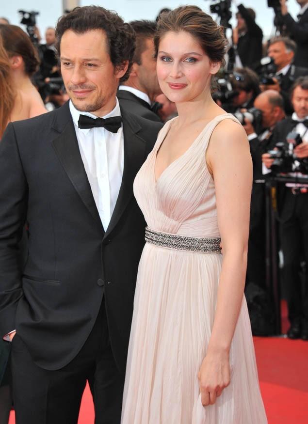 Laetitia Casta et Stefano Accorsi pour leur montée des marches à Cannes