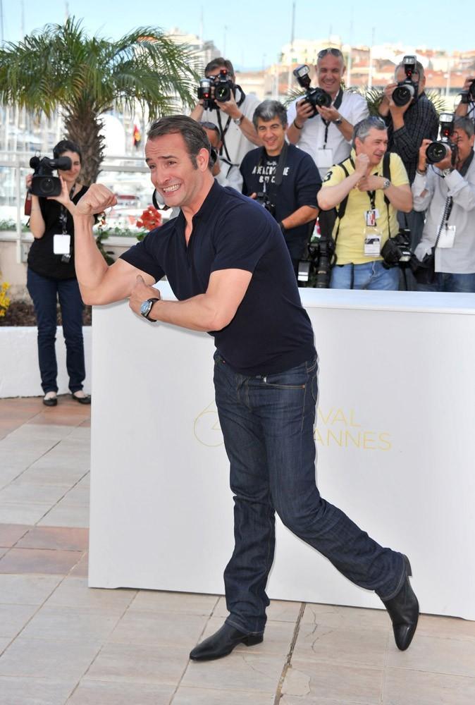 Photos : Cannes 2011 : Jean Dujardin est venu accompagné de son humour !