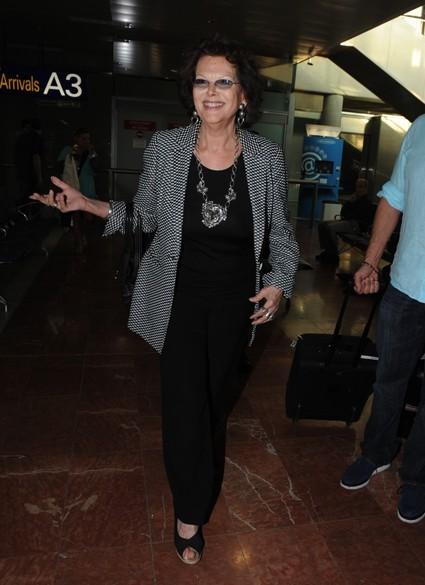 Claudia Cardinale resplendissante. Celle qui a magnifié la femme au cinéma demeure une personnalité culte pour tout les festivaliers.