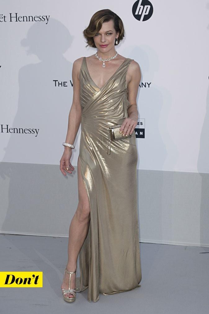 Festival de Cannes 2011 : la robe lamée Atelier Versace de Milla Jovovich