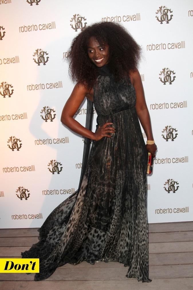 Festival de Cannes 2011 : la robe longue léopard d'Aïssa Maïga