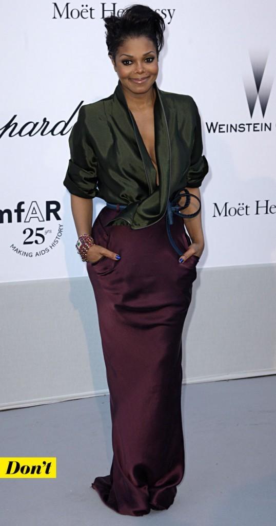 Festival de Cannes 2011 : le look Haider Ackermann de Janet Jackson