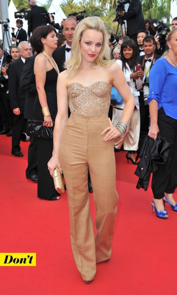 Festival de Cannes 2011 : le look pantalon camel de Rachel McAdams