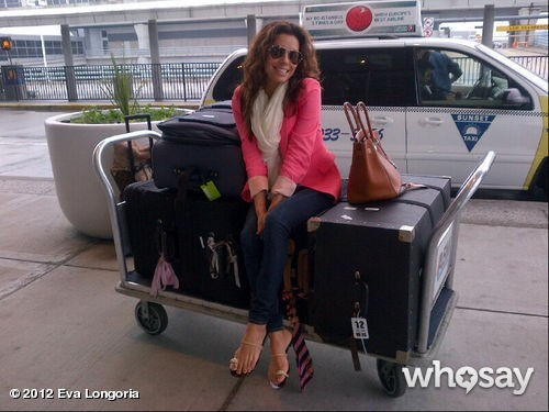 Eva et ses bagages