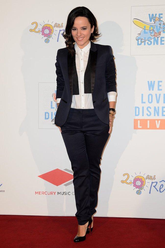 Alizée lors de la première de We Love Disney 2, novembre 2014