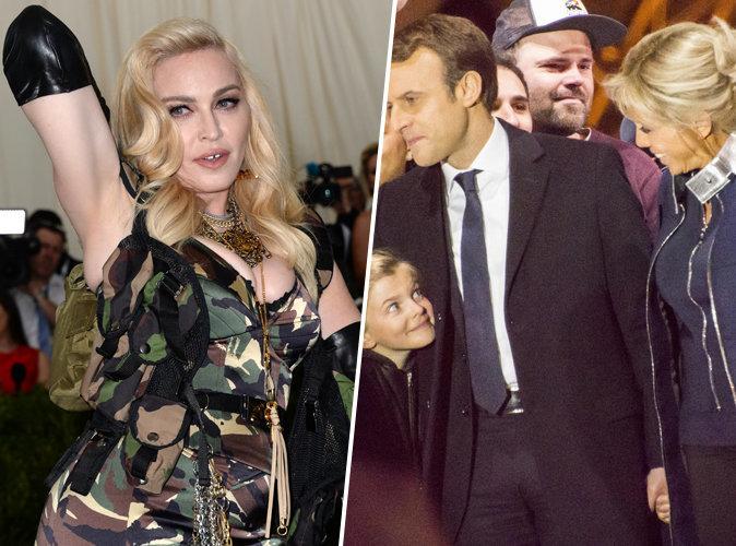 Emmanuel Macron : Madonna grande fan du couple qu'il forme avec Brigitte Macron