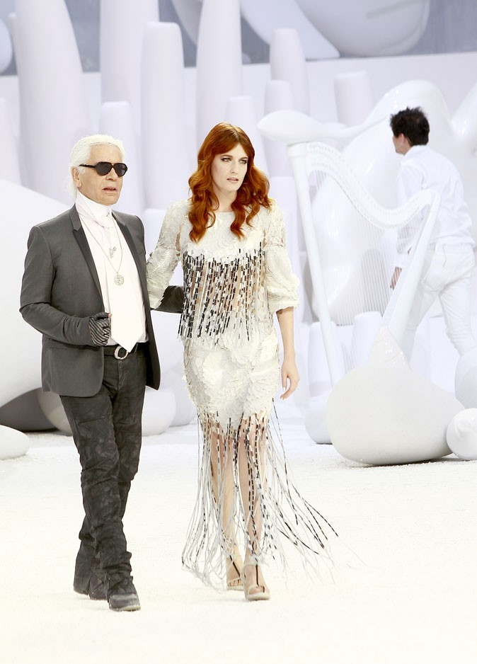 Karl Lagerfeld et Florence Welch
