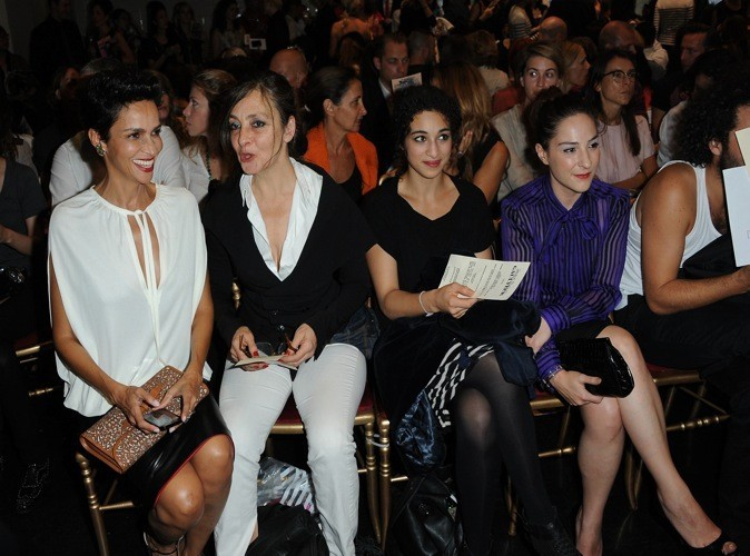 Farida, Catherine Ringer, Camélia Jordana et Marilou Berry au défilé Jean-Paul Gaultier printemps été 2012
