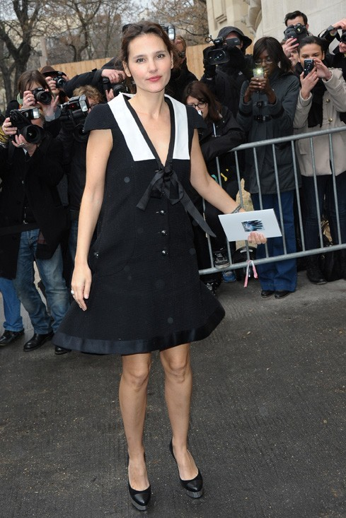 Virginie Ledoyen élégante en noir et blanc !