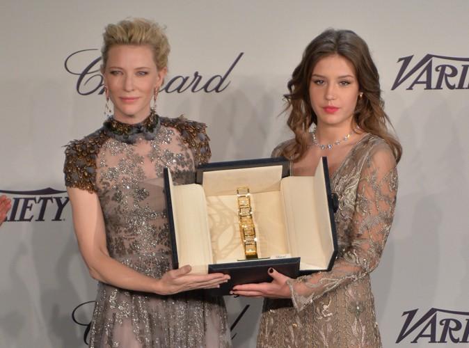 Cannes 2014 : Adèle Exarchopoulos : honorée par Chopard, elle illumine la Croisette aux côtés de Cate Blanchett !