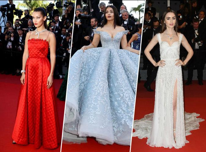 Bella Hadid, Aishwarya Rai, Lily Collins, Cannes le 19 mai