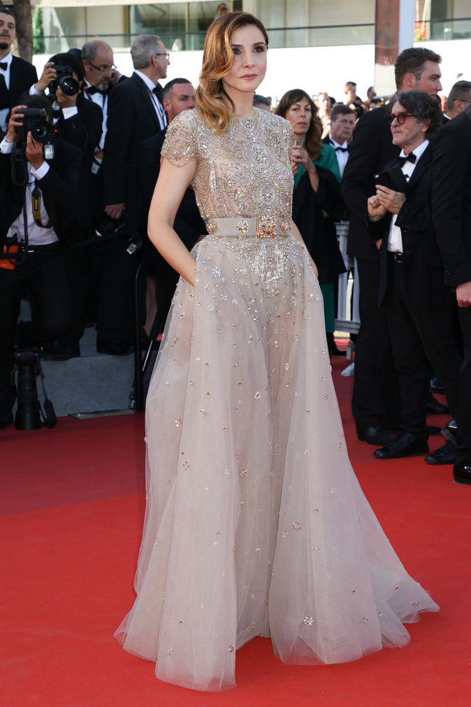 Clotilde Courau en robe Elie Saab - Cannes, le 17 mai 2017