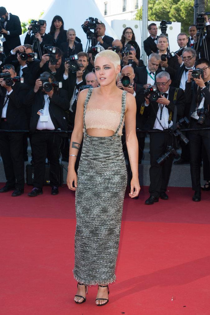 Kristen Stewart en Chanel, chaussée par Le Silla, Cannes le 20 mai