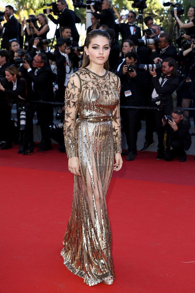 Thylane Blondeau en Elie Saab, Cannes le 19 mai
