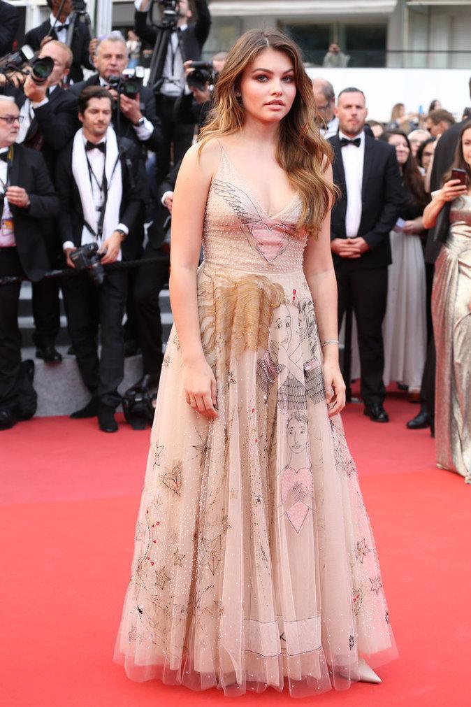 Thylane Blondeau en robe Dior - Cannes, le 18 mai 2017