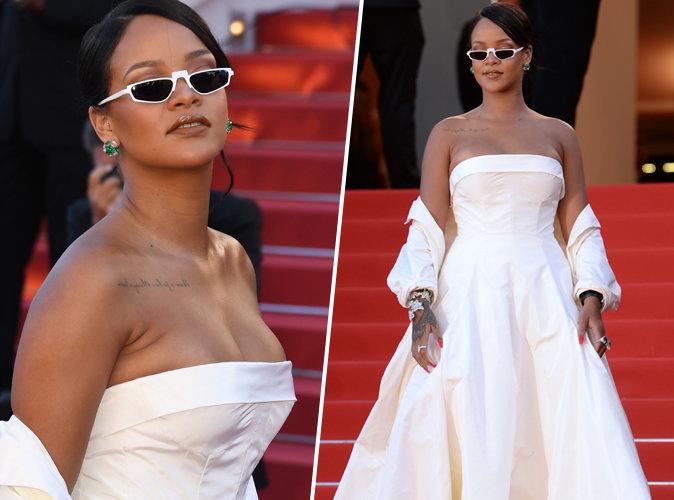 Cannes 2017 : Rihanna opte pour la sobritété et l'élégance pour sa première montée des marches