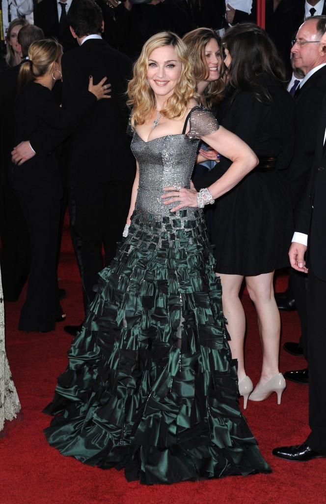 Madonna lors de la cérémonie des Golden Globes 2012 à Beverly Hills, le 15 janvier 2012.