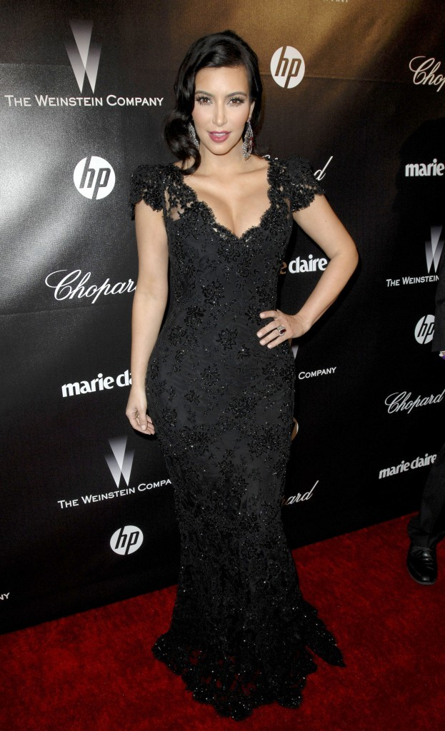 Kim Kardashian lors de l'after-party des Golden Globes, le 15 janvier 2012.
