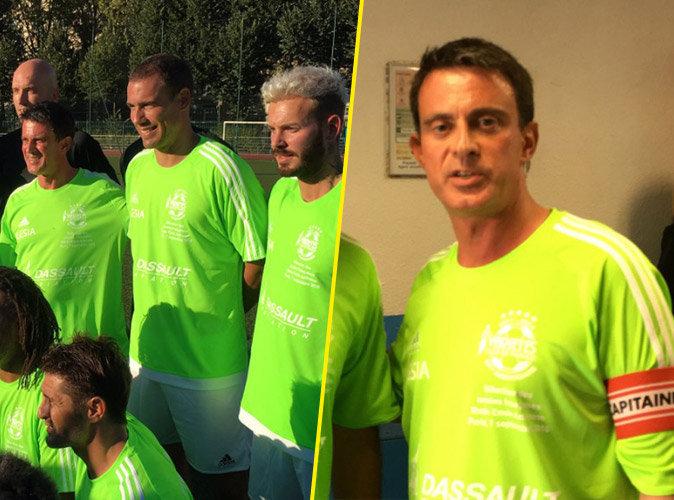 Manuel Valls enfile les crampons et tape dans la balle avec M. Pokora et Bixente Lizarazu