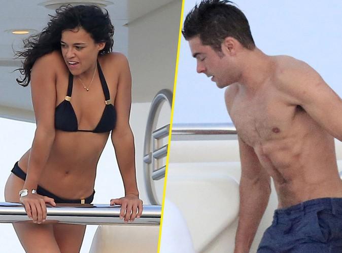 Michelle Rodriguez en petit bikini, Zac Efron torse nu... La temp�rature grimpe � Ibiza !