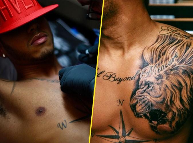 Public Man Crush : Rrrrr le nouveau tatouage de Lewis Hamilton !