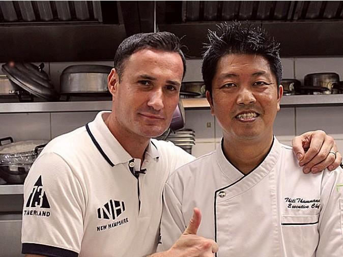 Cyril Rouquet en cuisine avec le chef !