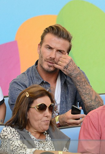 David Beckham à Rio de Janeiro le 13 juillet 2014