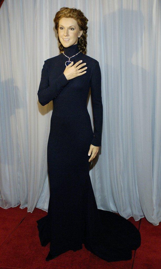 La statue de cire de Céline Dion présenté au Caesar Palace, juin 2006