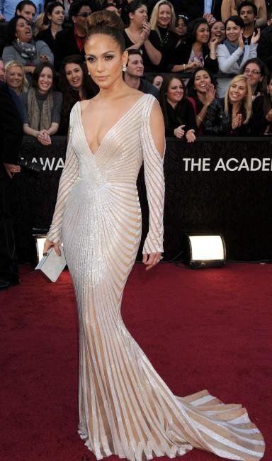 Jennifer Lopez lors de la cérémonie des Oscars à Hollywood, le 26 février 2012.