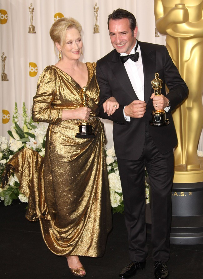 Avec notre frenchie, auréolé d'un Oscar lui aussi !