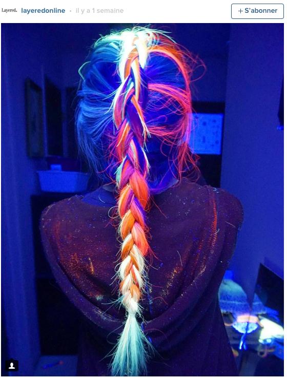 Public Buzz : Photos : Les cheveux phosphorescents, la nouvelle tendance capillaire !