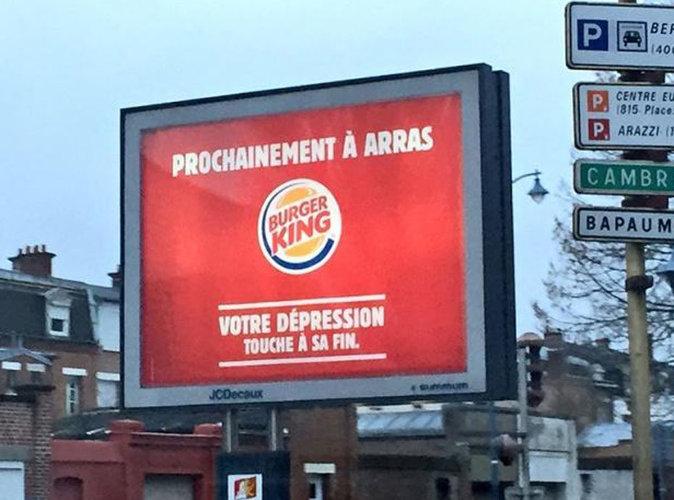 Public Buzz :  Pub provocatrice de Burger King ? La ville d'Arras répond avec humour
