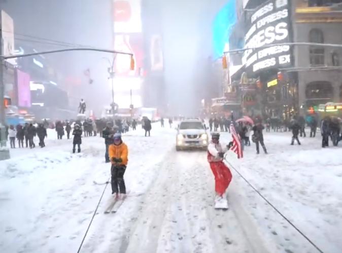 Public Buzz : Vidéo : Quand New York se transforme en station de ski !