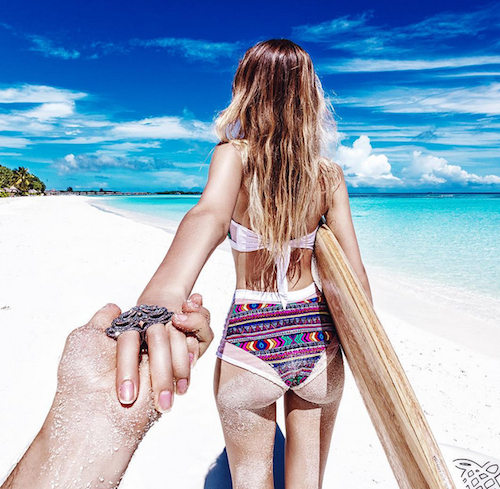 Public Buzz : Photos : la folle lune de miel du couple le plus connu d'Instagram !