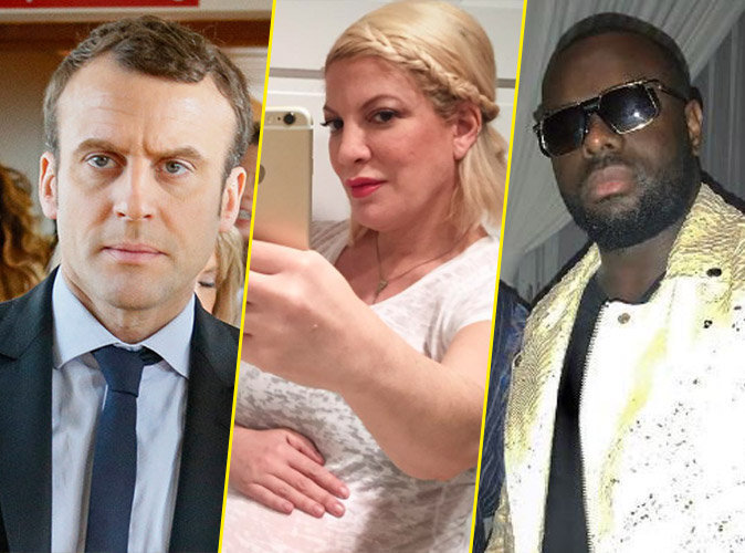 #TopNewsPublic : Emmanuel Macron dit stop aux rumeurs, Tori Spelling dévoile son baby bump et Maître Gims avec le roi du Maroc