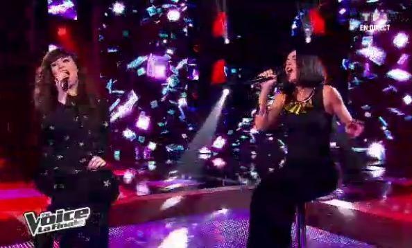 Al.Hy chante avec sa coach Jenifer