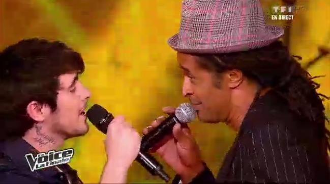 Louis Delort chante avec Yannick Noah