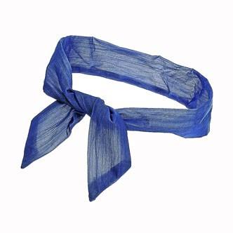 Accessoires cheveux été 2011 : le bandeau bleu en coton !