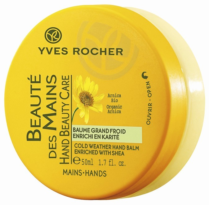 Baume grand froid, pour les mains, Yves Rocher. 11,90 €.
