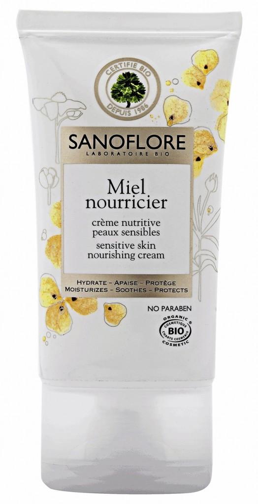 Crème nutritive, miel nourricier, Sanoflore. 18,90 €.