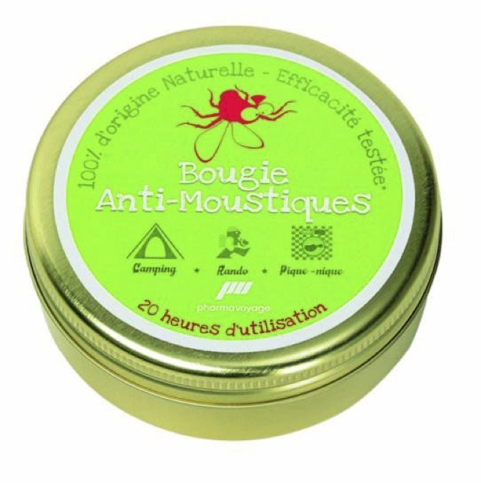 Bougie anti-moustiques, www.pharmavoyage.com 7,95 €