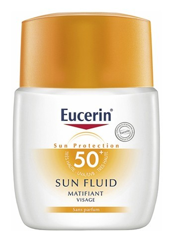2 - Sun Fluid Matifiant, Eucerin. 17,50 €.
