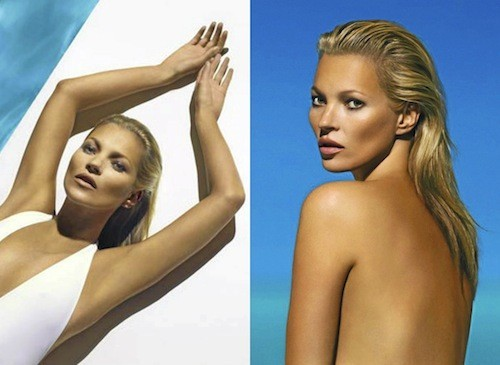 Le wet look de Kate Moss